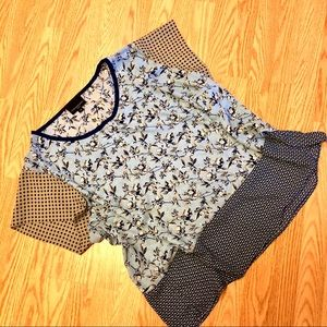 Airy Spring Patterned Blouse